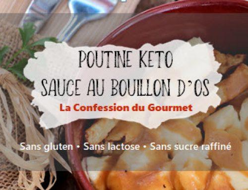 Poutine keto avec sauce au bouillon d'os