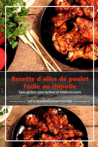 Une des recettes avec du poulet : les ailes de poulet