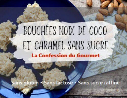 Bouchées noix de coco et caramel sans sucre