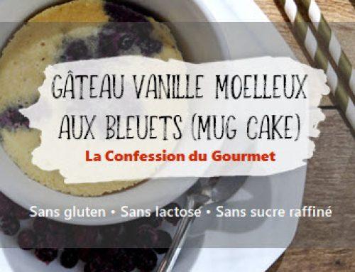 Gâteau vanille moelleux aux bleuets