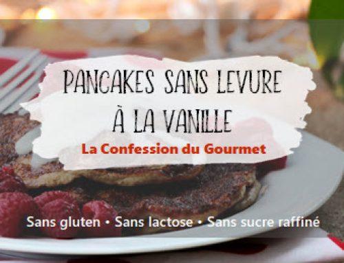 Pancakes sans levure à la vanille