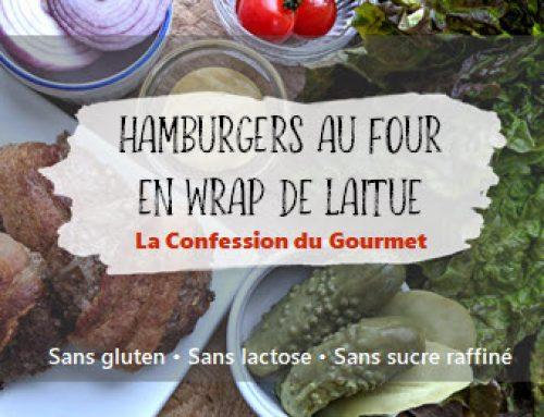 Hamburgers au four en wrap de laitue