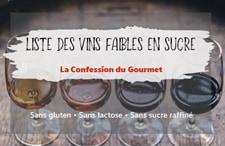 Photo tire menant vers la liste des vins rouges et vins blancs faibles en sucre