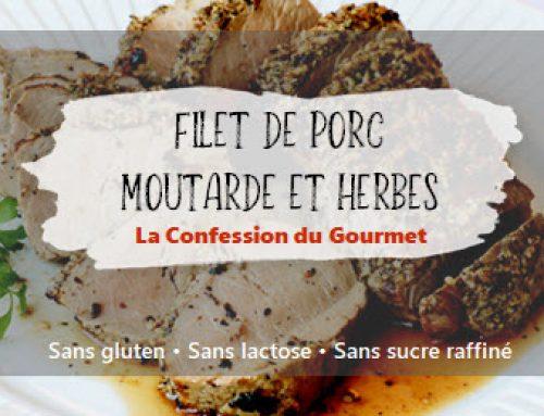 Filets de porc moutarde et herbes