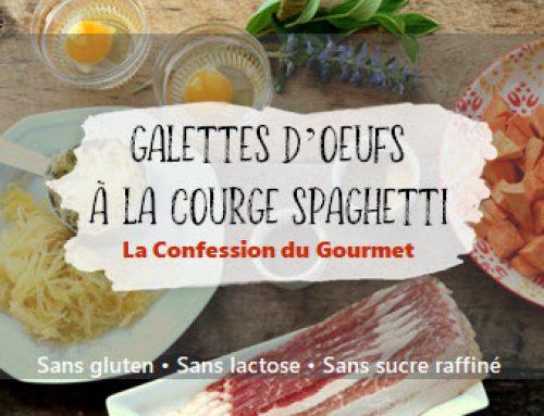 Galettes d'oeufs à la courge spaghetti