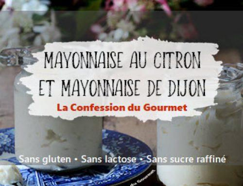 Mayonnaise au citron et mayonnaise de Dijon