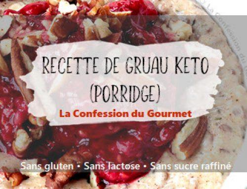 Recette de gruau keto (porridge)
