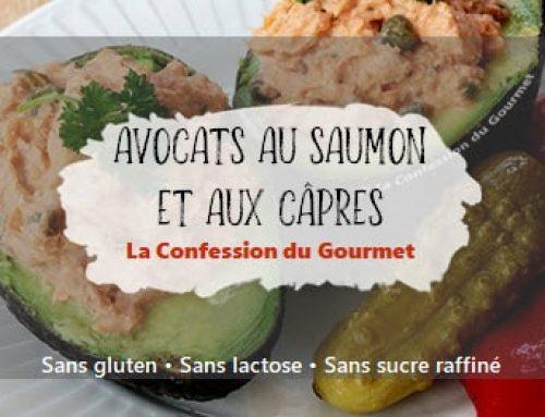 Avocats au saumon et aux câpres