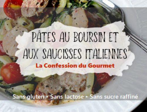 Pâtes au Boursin ® et aux saucisses italiennes