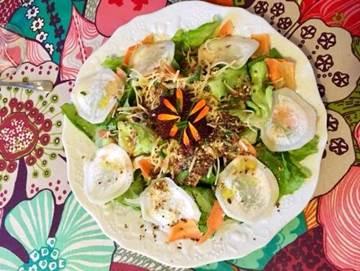 Salade cuisinée par Michèle qui a combiné arthrose et alimentation pour réduire ses symptômes