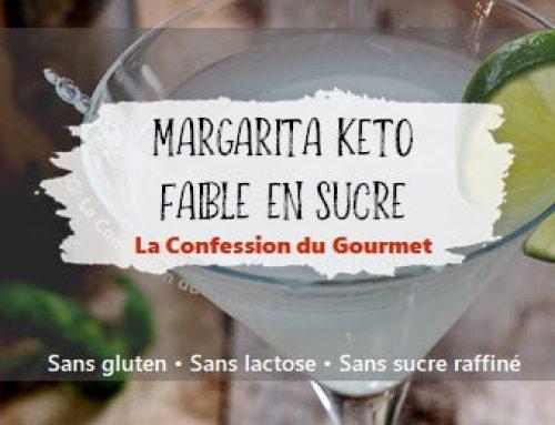 Margarita keto faible en sucre