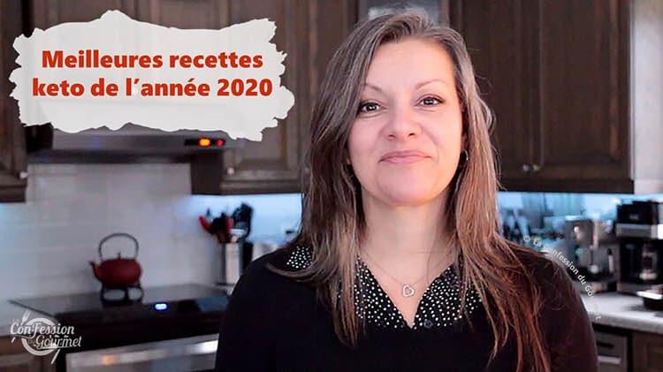 Johanne Gilbert présentant ses meilleures recettes keto de 2020