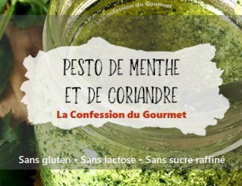 Pesto de menthe et de coriandre