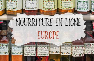 Catégorie nourriture en ligne pour l'Europe