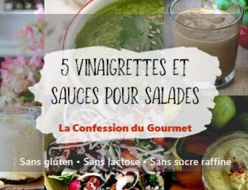 5 vinaigrettes et sauces pour salades