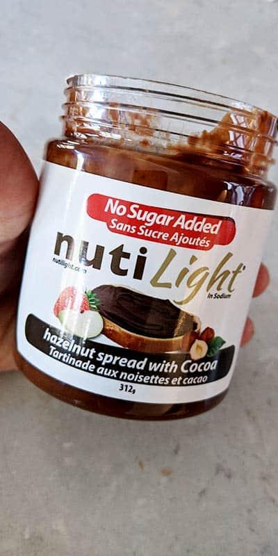 Pot de tartinade aux noisettes et cacao sans sucre ajouté et sans OGM