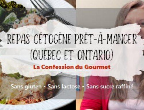 Repas cétogène prêt-à-manger (Québec et Ontario)