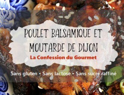 Poulet balsamique et moutarde de Dijon