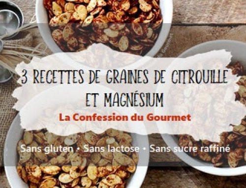 3 recettes de graines de citrouille et magnésium